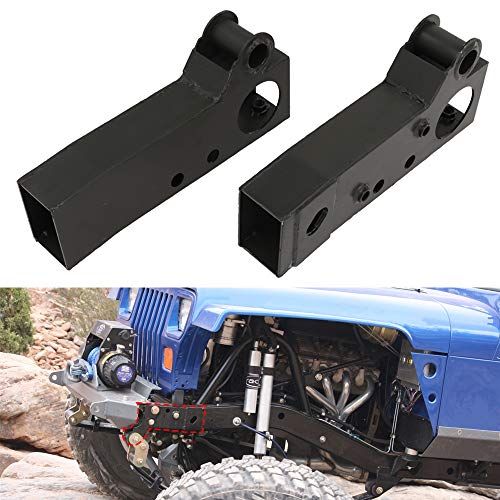 ELITEWILL 2Pcs Front Shackle & Steering Box Mount Section Replacement Frame Rust Repair Fit for 1987-1995 Jeep Wrangler YJ(Right and Left)