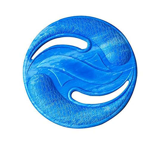 Eva Flying Disks Water Sports Spiaggia Disco Volante Wave Gravity Disc Boomerang Outdoor Pet Training Giocattolo Sport All'aperto, 224mm, blu