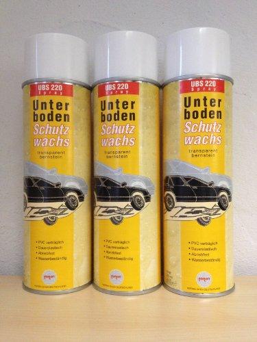 3 X Fertan UBS Wachs-Unterbodenschutz 500 ML Spraydose