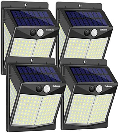 Enkman Solar Lights Outdoor 4 Pack 3 Modes 140 LEDs Wireless Motion Sensor Ooutdoor Lights with product image