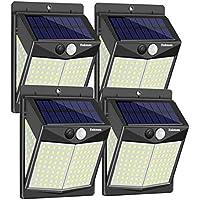 4-Pack Enkman Wireless Solar Motion Sensor Outdoor Lights