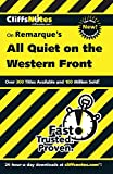 CliffsNotes on Remarque's All Quiet on the Western Front (Dummies Trade)