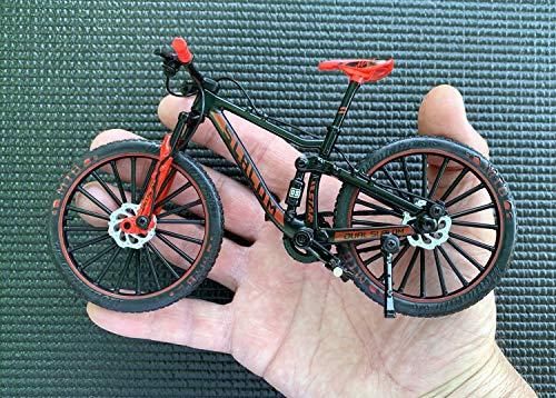 BicycleCrazy Bicicletta decorativa in miniatura 1:10 (MTB Slalom rosso)