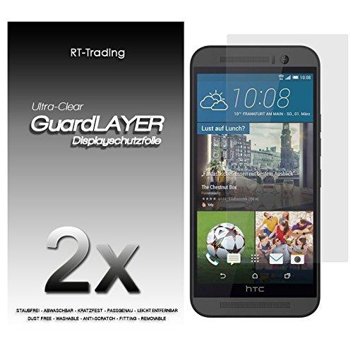2x HTC One M9 - Bildschirm Schutzfolie Klar Folie Schutz Bildschirm Screen Protector Bildschirmfolie - RT-Trading
