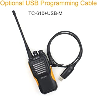 Hytera TC 610 Handle Radio 16 Channel 5W Portable Radio HYT TC-610 136-174MHz Water-Proof Walkie Talkie+Programming Cable