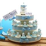 VialeMagico Bomboniere Carillon Nascita Bimbo Statuina su Torta Confetti 35 fettine