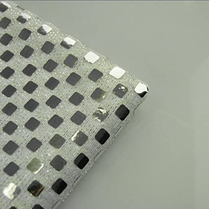 Sequin Spangles Fabric 100 Polyester With Nit Beads Embellishment Shiny Silver 44 Spangle W 8mm Zig Zag Silver