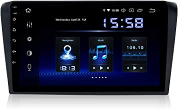 """Dasaita 9"""" Android 9.0 Single Din Car Radio Head Unit with 4G RAM 64G ROM for Mazda 3 2006 2007 2008 Car Stereo Bluetooth Sat Nav Built-in DSP Support GPS WiFi USB Steering Wheel Control Front Camera"""