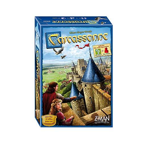 RWX Juego De Mesa De Carcassonne, Padres-Infantil Interactive Recoger Casual Card Game,...