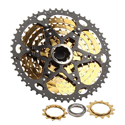DIYARTS Tipo Tarjeta Bicicleta Ultraligera Cassette 11 Velocidades Volante Bicicleta Accesorios para Bicicleta Carretera MTB BMX SRAM (11-50T)