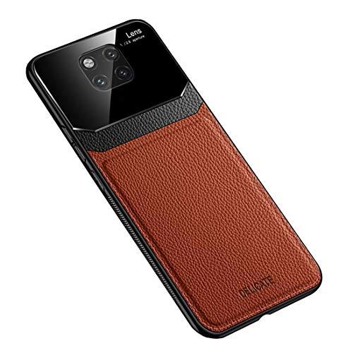 Funda Compatible con Huawei Mate 20 Pro, Carcasa Ultra Delgado De Piel PU y Suave TPU Cover Case Carcasa para Huawei Mate 20 Pro, Marrón