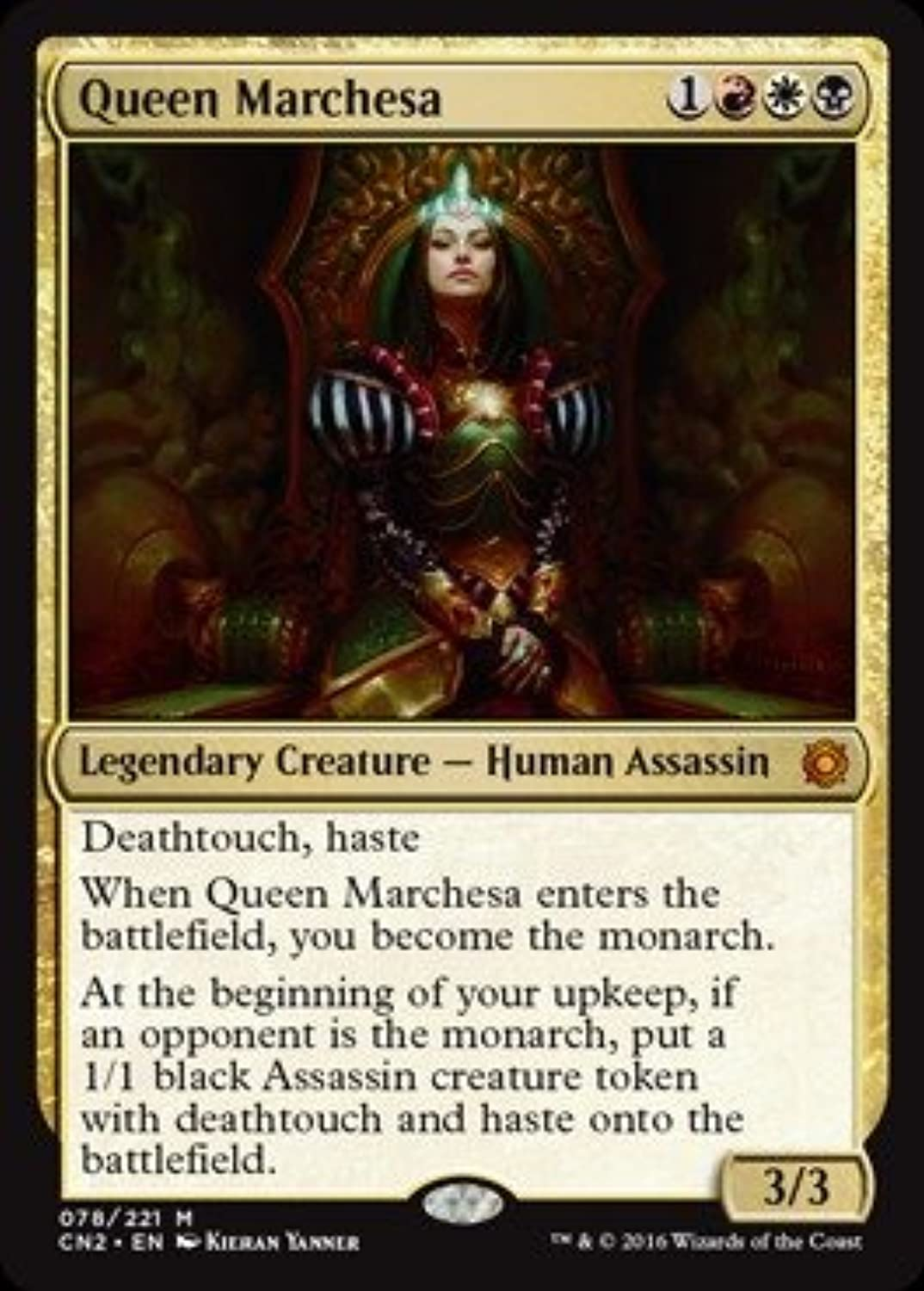 Magic the Gathering Queen Marchesa (078 221) - Conspiracy 2  Take the Crown by