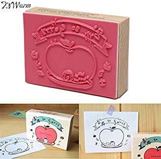 Stamps - Kiwarm 75x55x20mm Postcard Rubber Stamp Wooden Material Sealing Post Decorative - Classic Postage Post Pads Card Spock Office Gift Tabs Notes Note Stick Greet Gloss Rubber Desk Trave