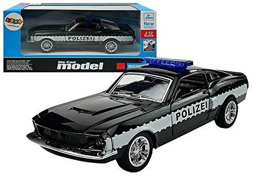 Coche de policía (escala 1:32), color negro