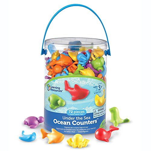 72-Pc Learning Resources - Set Under the Sea Ocean Counters $11.74 - Amazon