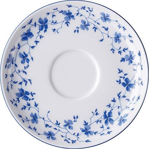 Arzberg Form 1382 Blaublüten Kaffee-Untertasse, Porzellan, White/Blue, 14.4 x 14.4 x 6.8 cm
