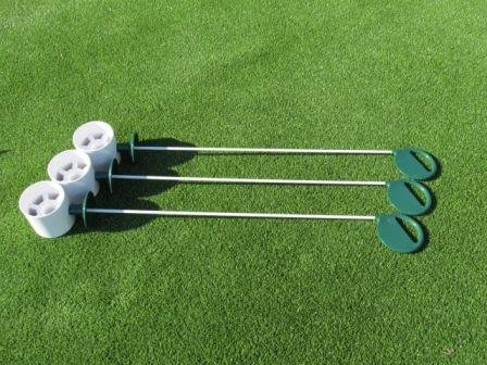 Review Golf Practice Putting Green - Natural or Synthetic - Deluxe Accessory Kit - (3) Bright White ...