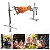4YANG BBQ Electric Rotisserie Kit Automatic 15W Stainless Steel Outdoor Automatic Grill Rotisserie Kit Outdoor Large Grill Rotisserie Spit Roaster Rod Large Grill For Party Camping Carnival