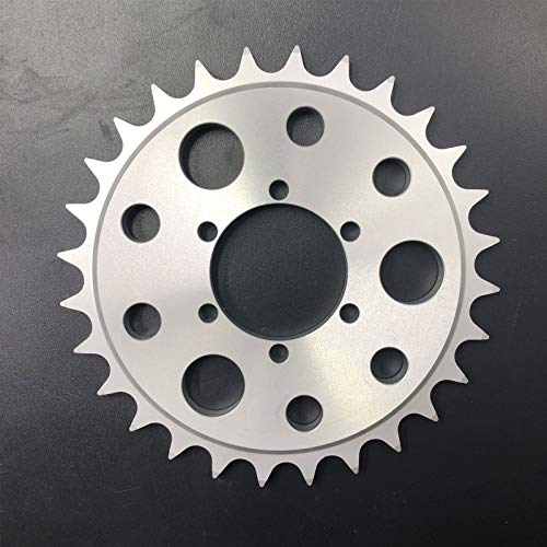 Gas Engine Motor Chain Driving Sprocket 28T to Rear Hub Disc Brake Adapter and Mag Wheel 2 in 1, Gas Motorized Bicycle 48cc/66cc/80cc