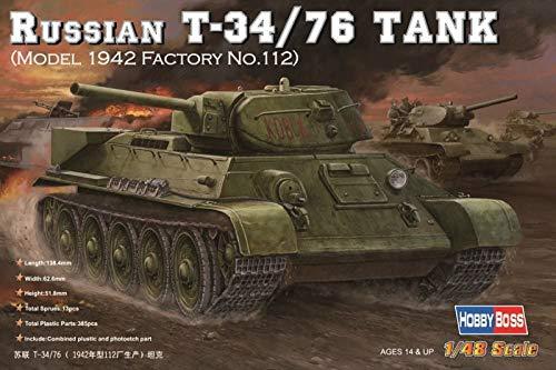 Hobby Boss 84806 modèle Kit Russian T 34/76 (1942 No. 112) Réservoir