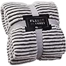 GREEN ORANGE Fleece Blanket Twin Size – 60x80, Lightweight, Black and White – Soft, Plush, Fluffy, Warm, Cozy – Perfect Throw for Couch, Bed, Sofa