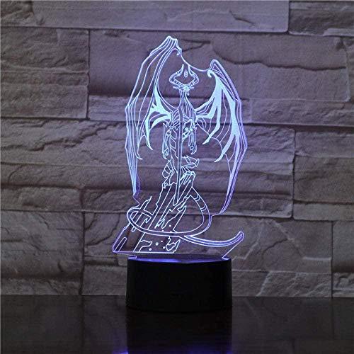 GMYXSW 3D ilusión lámpara noche luz a LED monstruos creativo Navidad lámpara...