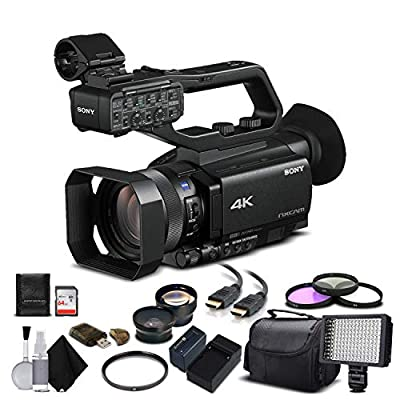 Sony HXR-NX80 Full HD NXCAM with HDR and Fast Hybrid AF (HXR-NX80) with 64GB Memory Card, Extra Battery, UV Filter, LED Light, Case, Telephoto Lens, Wide Angle Lens, and More - Advanced Bundle from Mad Cameras