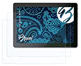 Bruni Schutzfolie kompatibel mit bq Aquaris M10 Folie, glasklare Bildschirmschutzfolie (2X)