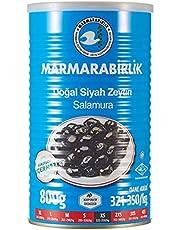 Marmarabirlik Doğal Siyah Zeytin Salamura, XS, 800g
