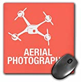 3dRose Pink Drone for Aerial Photographer Mouse Pad (mp_179927_1)