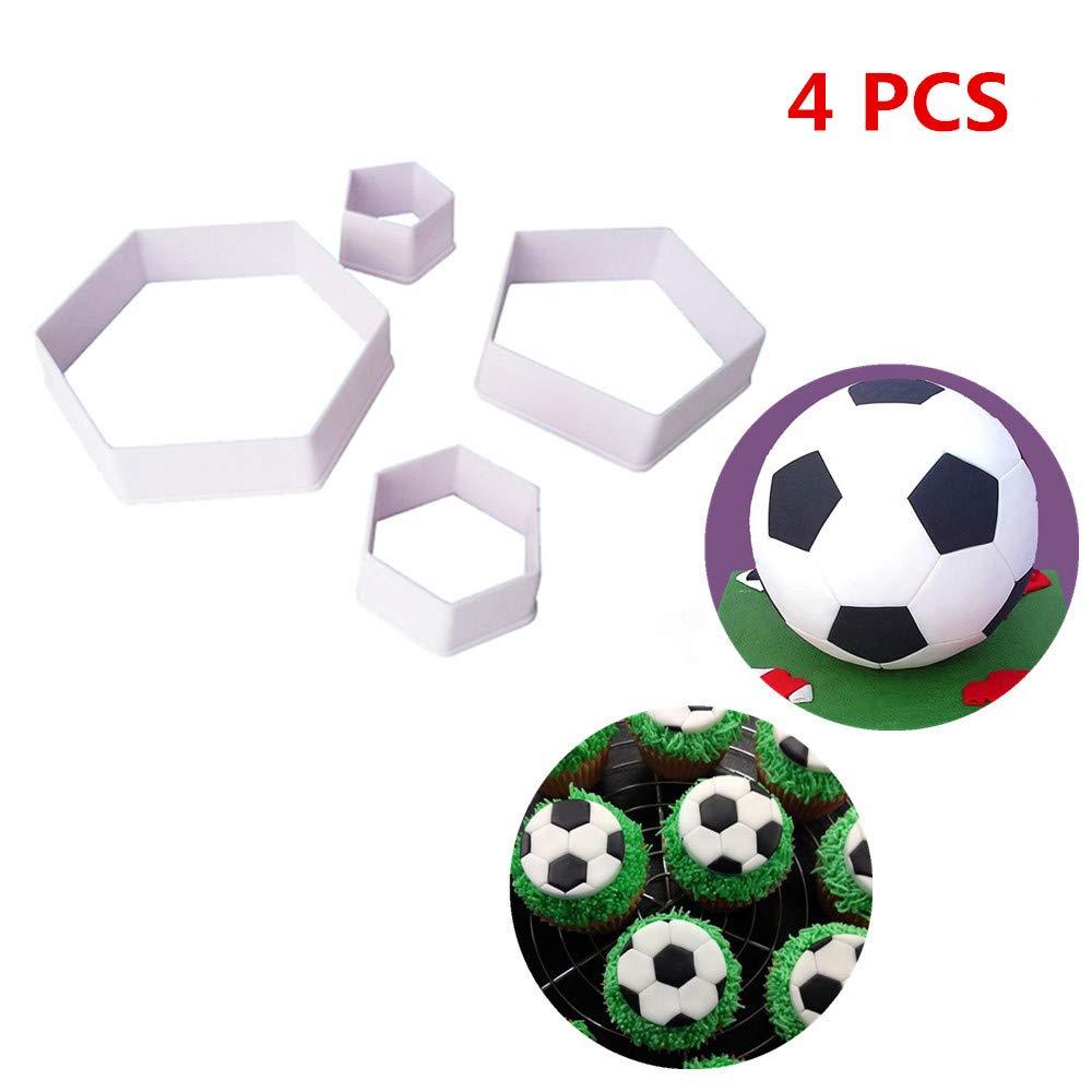 Juego de cortador de galletas de balón de fútbol para decoración ...