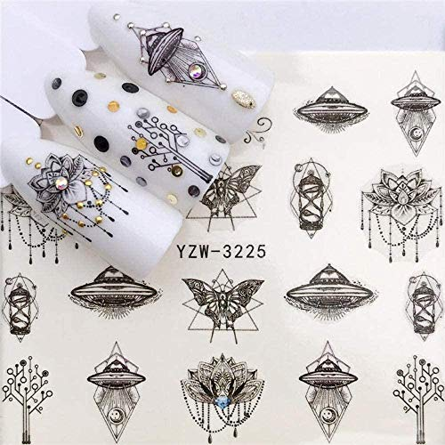 SRTYH Autocollant d'ongle Nail Art Nail Sticker Slider Tattoo Flower Water Decal Bonhomme de neige Full Wraps Designs Decals Make Nails More Beautiful EB