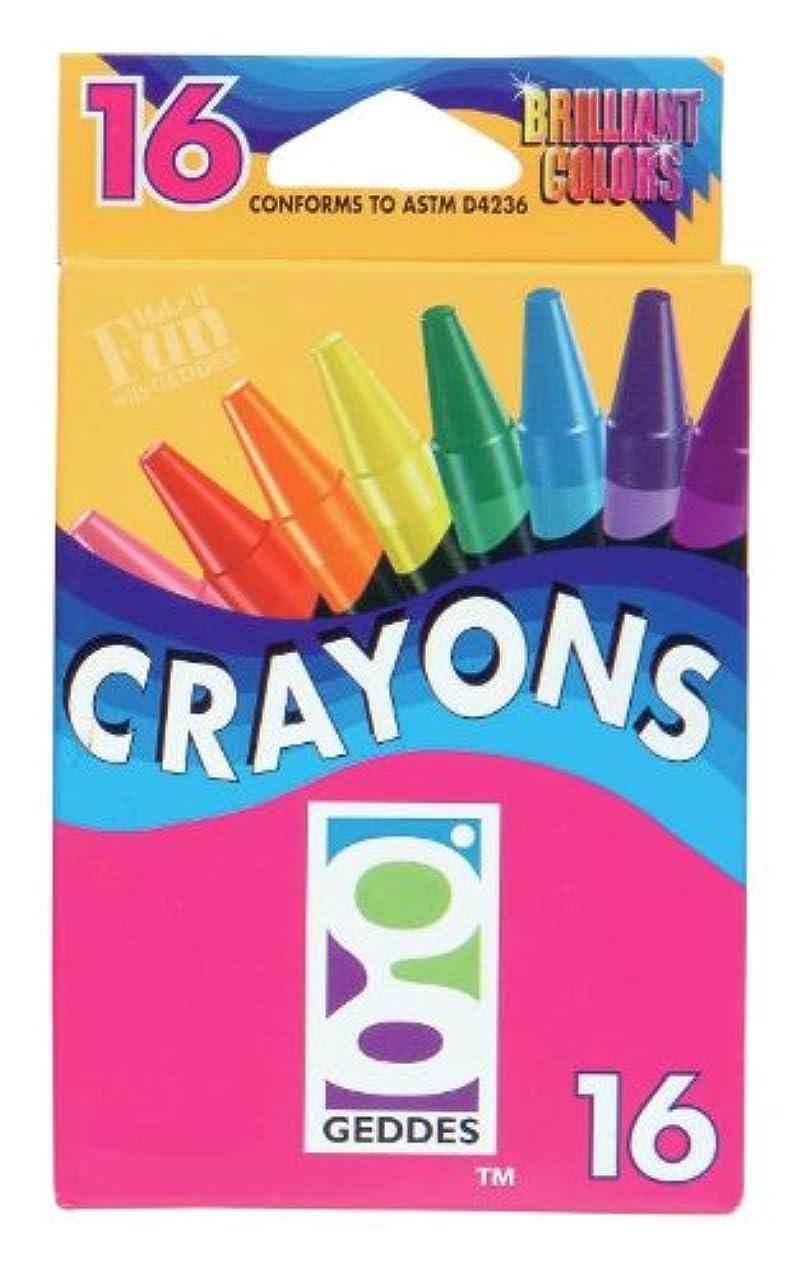 Geddes 16ct Crayons - Set of 12 quullclonamsj155