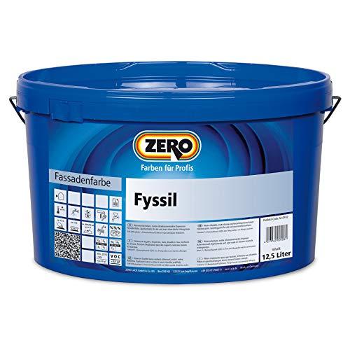 ZERO Fyssil Siliconharzverstärkt Siliconharz Fassadenfarbe weiß fungizid und algizid 5 l
