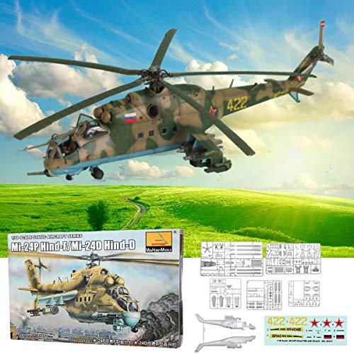 RanDal Mi-24P Hind-F/Mi-24D Hind-D 1:48 Modellspielzeug Für Statische Flugzeuge