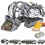 sookin Escavatore Teex RH400 con 9 Motori, 1/8 2.4 g/App Controllato a Distanza, Escavatore con Pietra 4062, Escavatore motorizzato Technic con Giocattoli di Costruzione