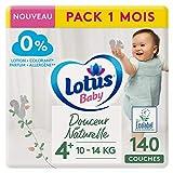 Douceur Naturelle – Pañales talla 4+ (10-14 kg), pack de 1 mes – 140 pañales