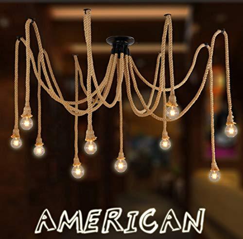 Lustre en corde de chanvre / style industriel rétro / salon salle à manger bar balcon / lampes ne comprennent pas les ampoules