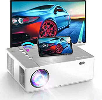 Bomaker 2021 Upgraded Projector Native 1920 x1080p  4K Supported 6D ±50° X/Y Keystone and ±50% Zoom Out 300 ANSI Lumen Full HD Outdoor Movie Projector for TV Stick Android,HDMI PCs
