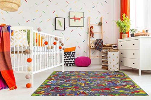 misento Kinderteppich Straßenteppich Spielunterlage Kinderzimmer Schadstoff geprüft 200 x 200 cm