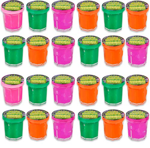 Mini Noise Putty Slime - (Pack of 48) Slime Party Favors Sludge for Kids All Ages, Boys & Girls, Bulk Neon Silly Noise Putty for Goodie Bag Party Supplies, Stocking Stuffers