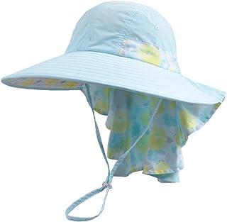 太陽の帽子広いつば夏の紫外線保護ビーチ帽子シャワー帽子帽子折りたたみ釣り帽子用調節可能なあごストラップ付き旅行休日水泳サイクリングキャンプハイキング