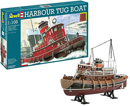 Revell- Harbour Tug Modello, Scala 1:108, Multicolore, 05207