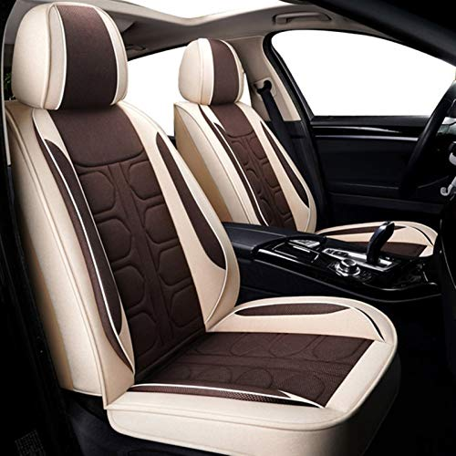 WXFXBKJ Cubiertas del Asiento Delantero del Coche 1pcs Conjunto for los Seat Mayor Parte Delantera del Coche Interior del Protector Cubre Cuatro Estaciones Universal del Asiento Protector