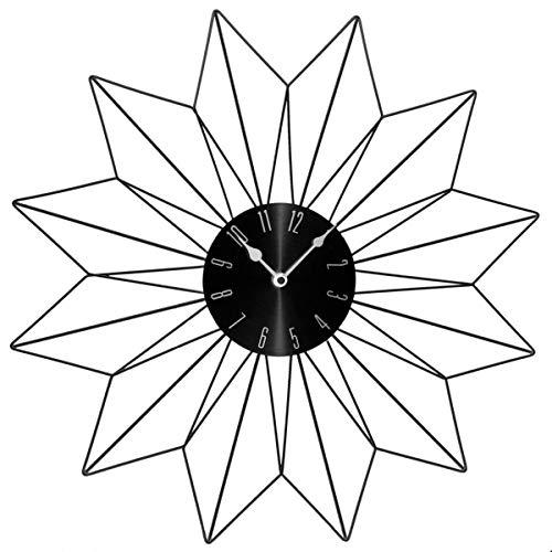 Pendule étoile - 50 x 4,5 x 50 cm - Métal - Noir