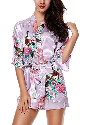 Kimono Mujer Japones Vestido Corto Chaqueta Flores