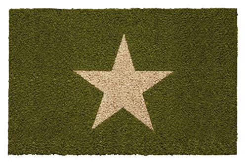 Betz Kokosmatte Fußmatte Fußabstreifer Schmutzfangmatte STERN grün Größe 40x60cm