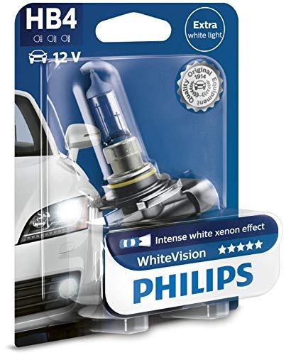 Philips WhiteVision Xenon Effect HB4, lámpara de faro 9006WHVB1, blister individual