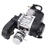 Ambienceo 49cc 2 takt Motor Mini Motor Pocket Bike Motor Pullstart Vergaser Luftfilter Kopf Dirt Bike Quad Pocket Bike