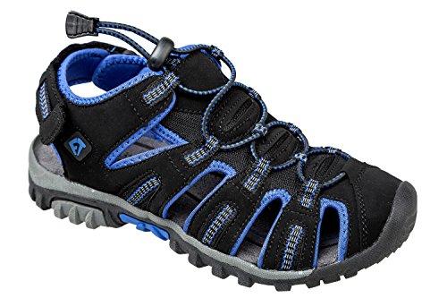 gibra® Herren Trekkingsandalen, mit Klettverschluss, schwarz/blau, Gr. 44